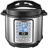 Potastic 6Qt 10-in-1 Programmable Electric Pressure Cooker,LCD Display,Instant Cooking with Stainless Steel Pot, Multi-Cooker,Slow Cooker, Rice Cooker, Yogurt Maker, Egg Cooker, Sauté, Steamer, Warmer