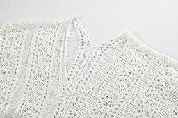 Jeasona Women's Bathing Suit Cover Up Bikini Swimsuit Swimwear Crochet Dress (Off White)
