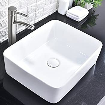 Kohler K-2660-1-0 Vox Rectangle Vessel with Faucet Deck ...