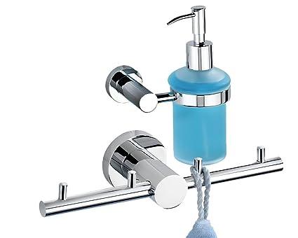 Wenko Valente 2 Juego de baño y WC Juego Single 1 dispensador de jabón 1 ganchos