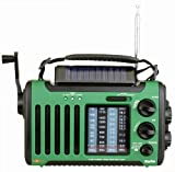 Kaito Voyager Solo KA450 Solar/Dynamo AM/FM//SW & NOAA Weather Emergency Radio with Alert & Cell Phone Charger, Jeep Style,Color Green