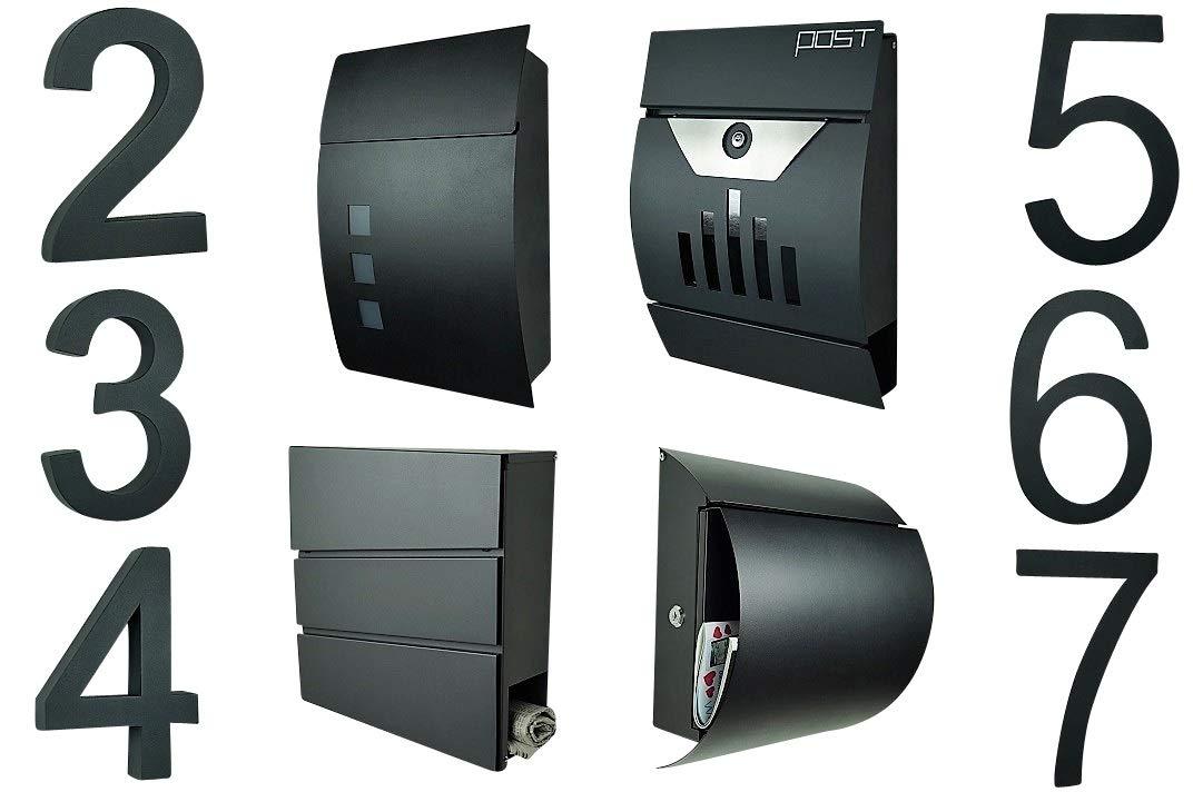 et capteur cr/épusculaire//enti/èrement automatique brevet/é ! Num/éro de maison en acier inoxydable 3D num/éro 2//20 cm//Lumineux//LED blanc//avec transformateur 220 V V2A