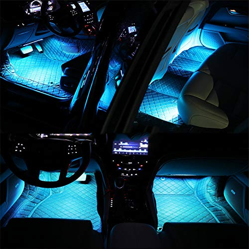 Car Led Strip Lights,Interior Car Lights,2pcs12LED Car Decoration Lights Strips For Car Ambient Light Interior Lighting (Sky blue)