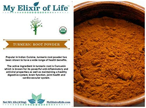 Certified Organic Turmeric Root Powder from India~CURCUMA LO