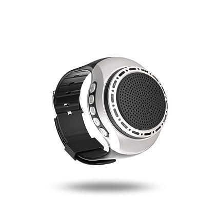 ZZG Reloj Bluetooth Reloj Inteligente Pulsera de Sonido Portátil Reloj Pulsera Tipo Subwoofer (Color :
