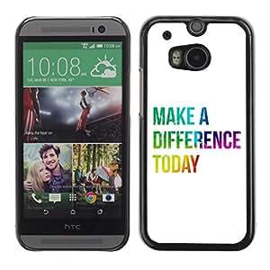 Be Good Phone Accessory // Dura Cáscara cubierta Protectora Caso Carcasa Funda de Protección para HTC One M8 // BIBLE Make A Difference Today