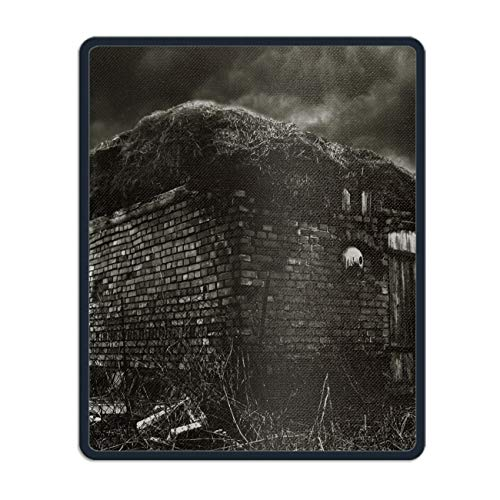 Dark Haunted Horror Creepy Spooky Scary Halloween Mouse pad Gaming Mouse pad Mousepad Nonslip Rubber Backing]()