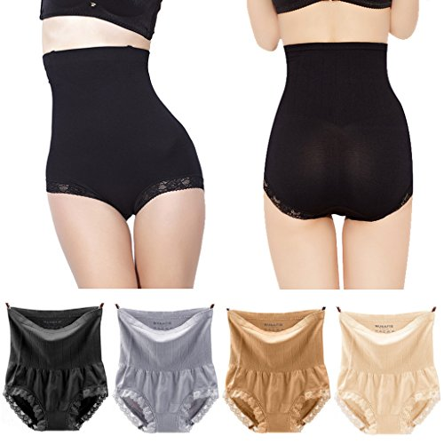 Pilot-trade 4-pack High Waist Underwear 20s Dress's Body Shaper Tummy Control slimming panties XL