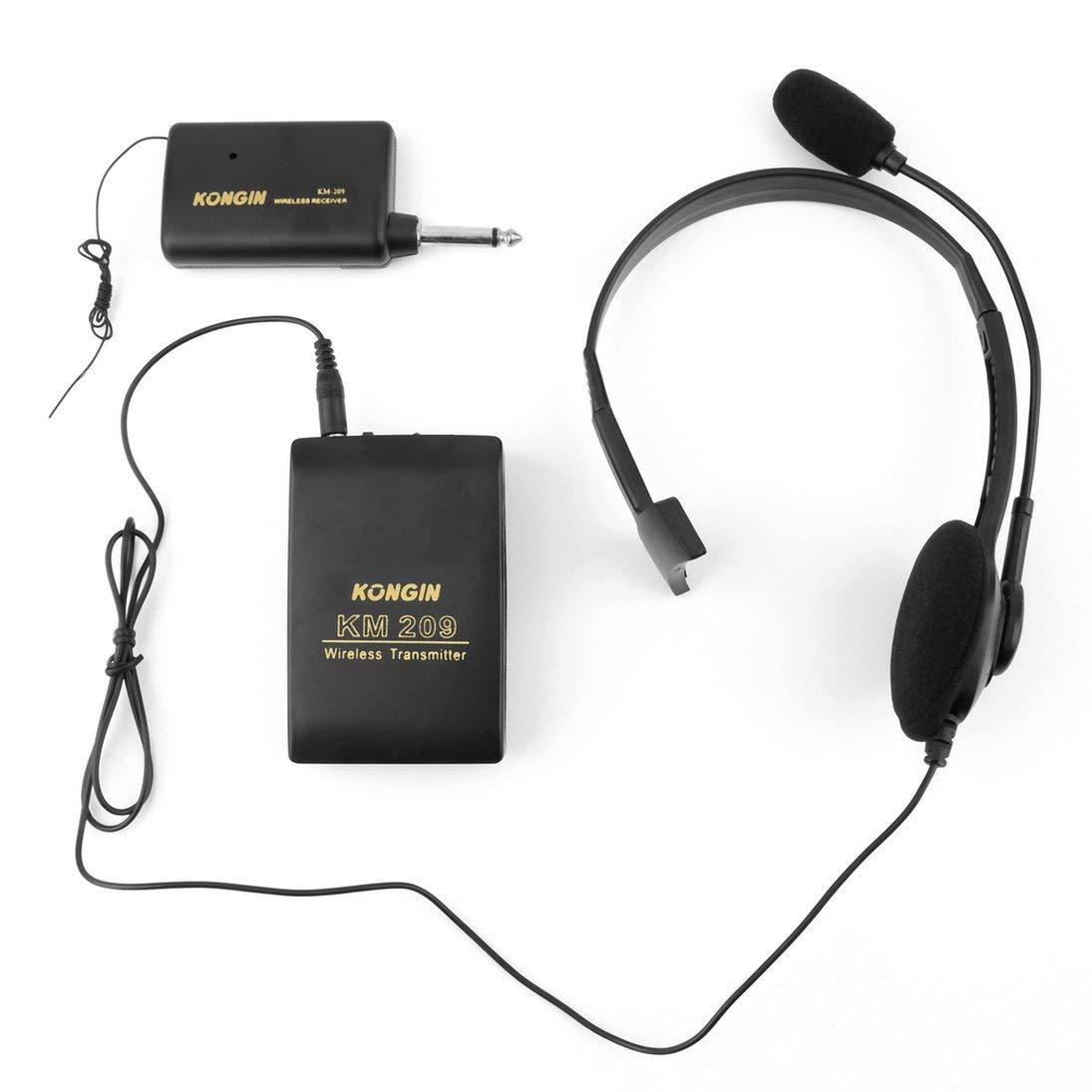 WEIHAN Etapa VHF port/átil Sistema de micr/ófono de micr/ófono de Solapa lavalier inal/ámbrico Micr/ófono Transmisor FM Transmisor de Cuerpo