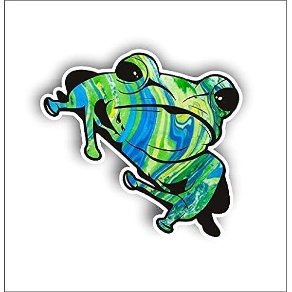 Frosch Zen Frogcartoon Froggy Aufkleber Grafik Vinyl Label