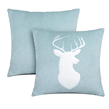 Amazon.com: Funda de almohada con diseño de ciervos y ...