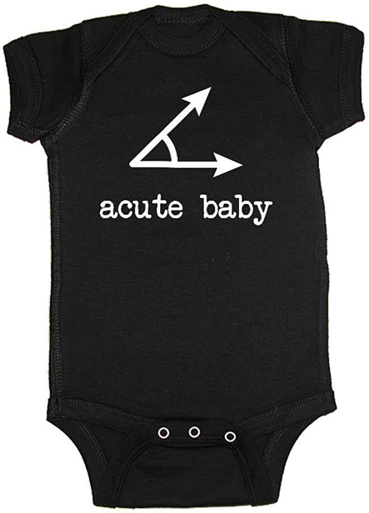 We Match! Unisex Baby - Acute Baby Acute Angle Math Nerd Geek Baby Bodysuit (16 Colors Available)