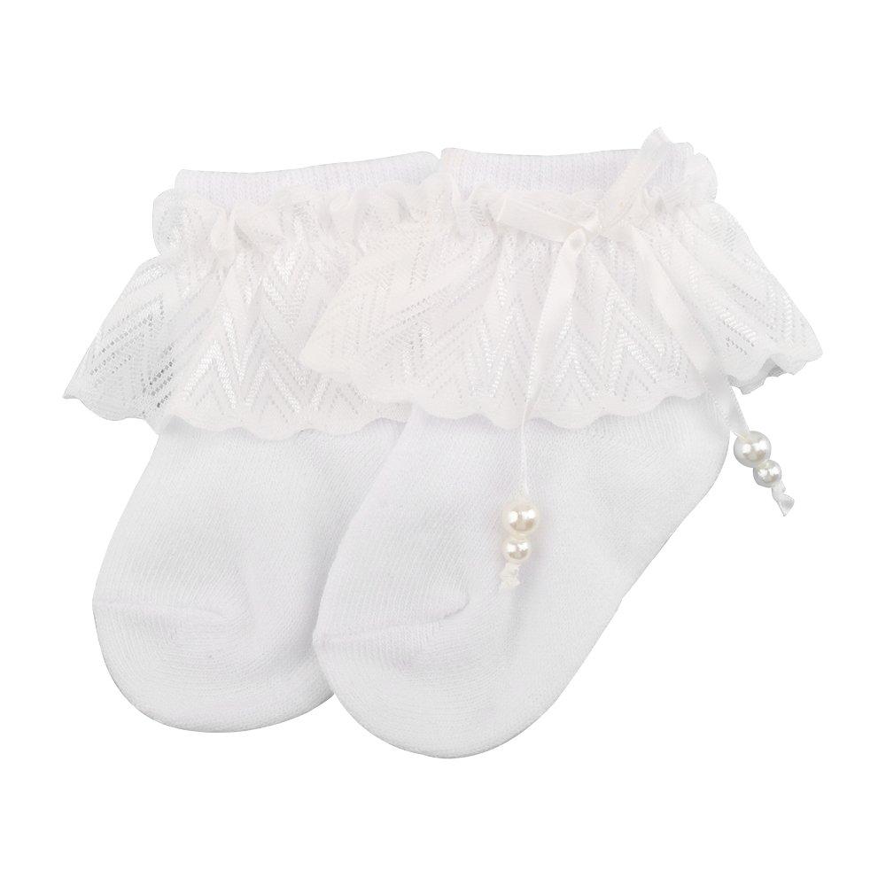 OOSAKU B/éb/é Filles Bapt/ême Enfant en Bas /Âge Chaussures antid/érapantes Robe Bowknot Dentelle Floral