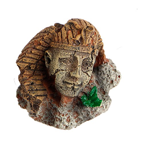 (Julyshop Egyptian Pharaoh Ancient Sphinx Ruins Aquarium Fish Tank Ornament Decoration)