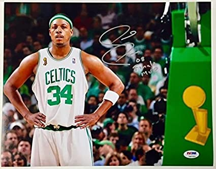 caa9e3fa3 Image Unavailable. Image not available for. Color  PAUL PIERCE quot 08  Finals MVP quot  Signed CELTICS Auto ...