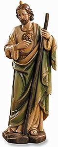 "St. Jude Statue - Toscana Resin 8"" H - Christian Brands Catholic"