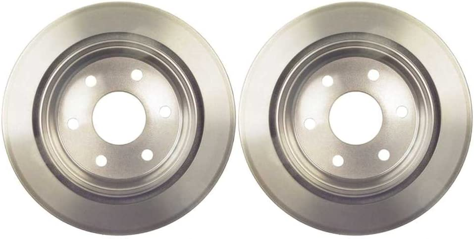 Prime Choice Auto Parts R65068PR Rear Pair 2 Brake Rotors 6 Stud