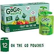 Gogo Squeez, Applesauce Pouches, 38.4 Oz (pack of 12)