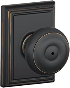 Schlage F40 GEO 716 ADD Addison Collection Georgian Privacy Knob, Aged Bronze