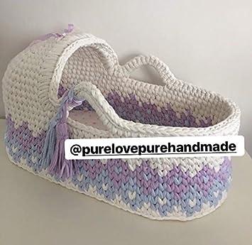 Amazon Com Crochet Basket Newborn Moses Basket White Baby