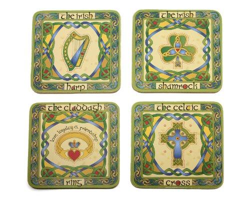 Irish Symbols Cocktail Coasters Four product image