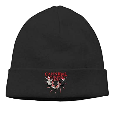 Gaoger Mens   Womens CANNIBAL CORPSE Skull Beanie Hats Winter Knitted Caps  Soft Warm Ski Hat 806a1004bbd