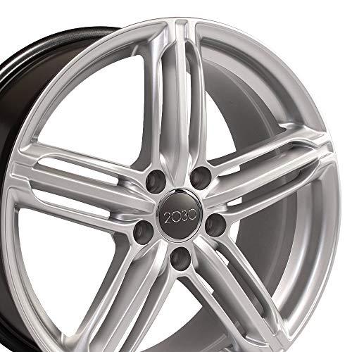 OE Wheels 18 Inch Fits Volkswagen CC Beetle Audi A3 A8 A4 A5 A6 TT 18x8 RS6 Style AU12 Hyper Silver - Rims Hyper Silver