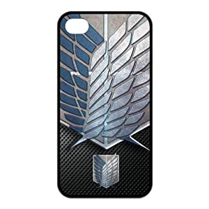 Hot Cartoons Manga Series Attack On Titan iPhone 4 4S - Just do it Case Cover Protector Gift Idea