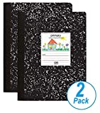 1InTheOffice Primary Composition Book, 7 1/2' x 9 3/4', Unruled/Primary Ruled Notebook, 100 Sheets, 2 Pack