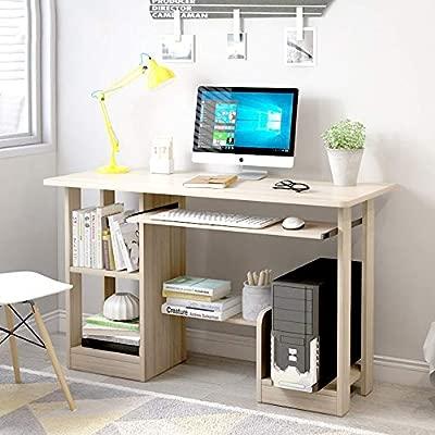 Yuqianqian Moderno Mesa de Computadora Escritorio de Oficina ...