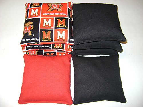 University of Maryland Cornhole Bean Bags Tailgate Toss Game Terrapins Set of - Maryland Outlet Stores