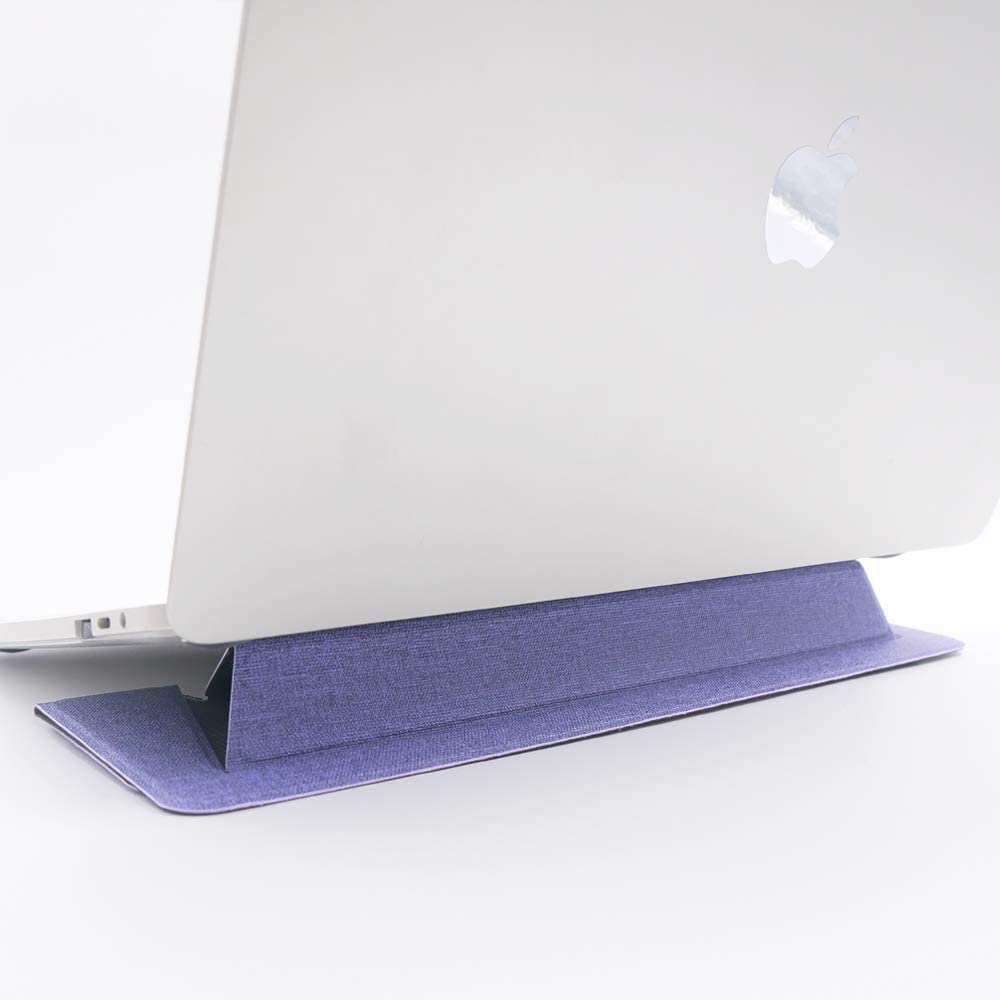 "SenseAGE Flat Foldable Laptop Stand, Invisible Lightweight Laptop Stand, Anti-Slide and Portable Notebook Stand, Compatible with MacBook Air/MacBook Pro, Tablets and Laptops up to 15.4"", Iris Purple"