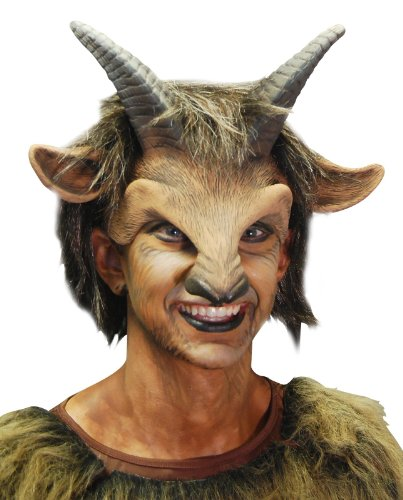 Zagone Goat Boy Mask,  Horns, Nose, and Hair, Animal, (Parent And Child Halloween Costume Ideas)