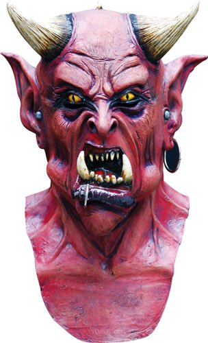 Horned Devil Halloween Horror Costumes Mask (Halloween Maske)
