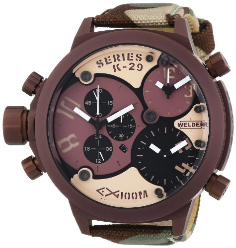 Welder ' K29' Quartz Stainless Steel and Nylon Casual Watch, Color:Brown (Model: 8005)