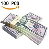 Double-sided printing, paper stiffness, heavy. Like the real dollar, feel similar! One package contains 100 pieces of toy banknotes. 100 x $50 Prop Money Dollars New Style 10K Stack • Give your films the authentic look with this reproduction 10k Stac...