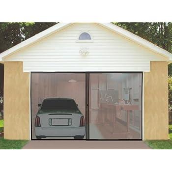 IdeaWorks Instant Garage Screen Door-Double - Garage Door Bug Screen on windows mosquito net, garage door bug net, screen door mosquito net,
