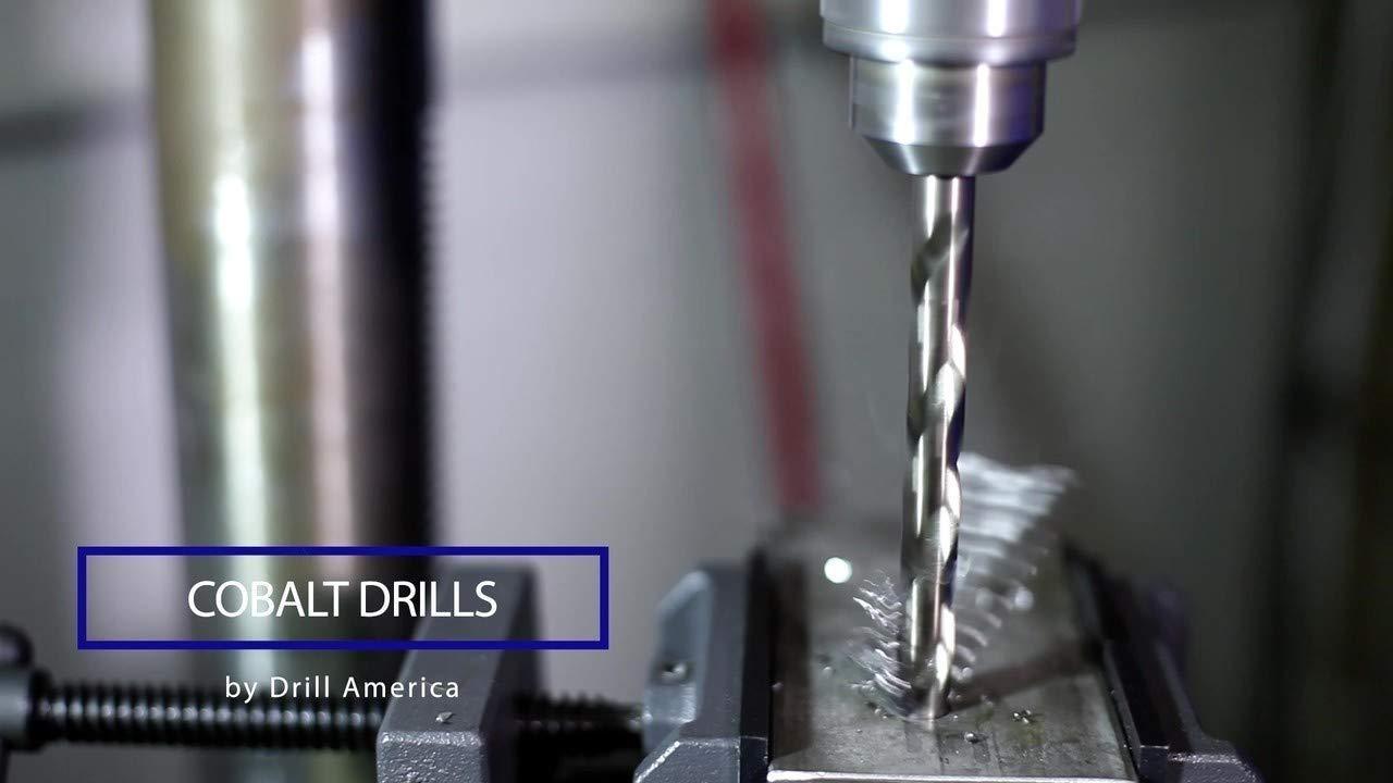 D//ASTCO Series Pack of 12 Drill America #25 Cobalt Heavy Duty Split Point Stub Drill Bit