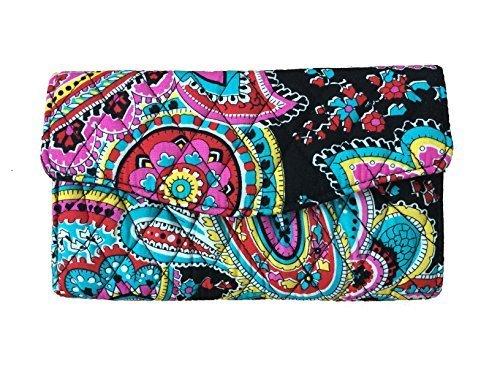 Vera Bradley Strap Wallet (Parisian Paisley with Black Interior)
