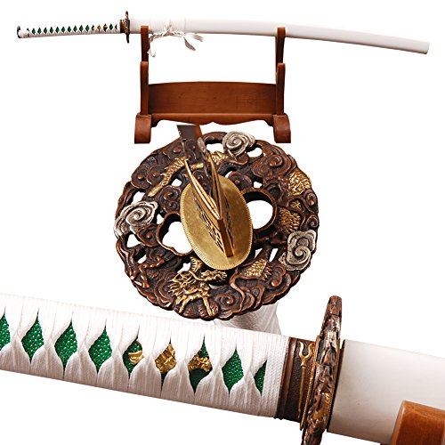 Handmade Japanese Samurai Sword Clay Tempered Katana Real Sharp Battle Ready Full Tang