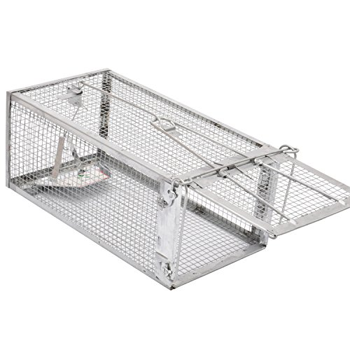 Kensizer Small Animal Humane Live Cage Rat Mouse Mice Chipmunk Trap for Indoor and Outdoor ()