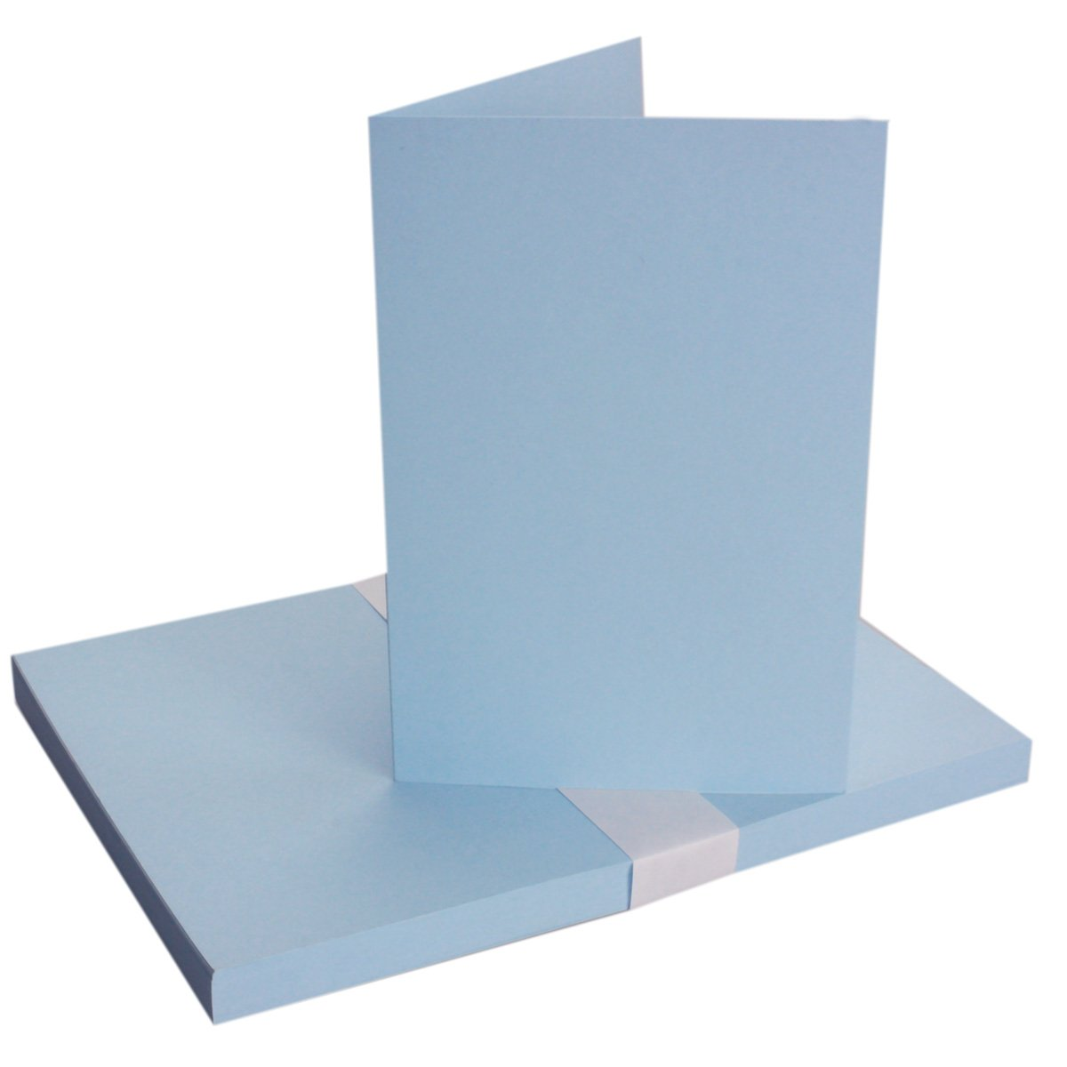 formato DIN A6 con buste in formato DIN C6 dotate di bordo da inumidire Set/di cartoncini pieghevoli senza scatola 40 Karten-Sets Hellblau