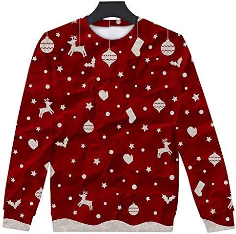 [해외]Shirts for Women Long Sleeve Casual Loose Fit Tunic Tops Pullover Blouse for Christmas / Shirts for Women Long Sleeve Casual Loose Fit Tunic Tops Pullover Blouse for Christmas (L, Red)