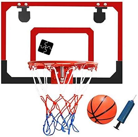 バスケットボールフープ子供用バスケットボールリムゴール壁掛けミニキッズバスケットボールスタンド45x30cm