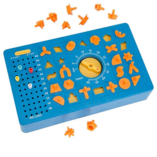 TimeShock Game-Retro Timed Fun Board Game, Game Unit with Timer and Pop-up Tray - Game Measures 9