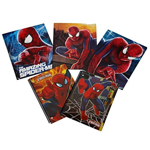Marvel Ultimate Spiderman Notebook and Folder 5 Piece Back to School Supply Set
