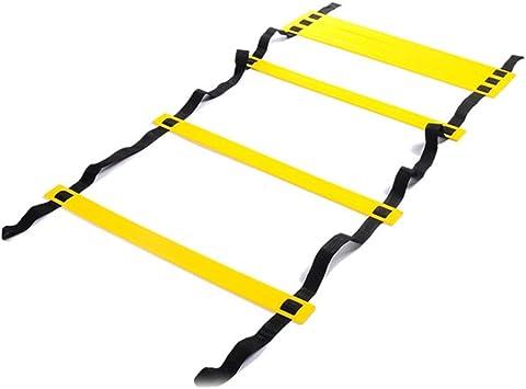 Escalera de agilidad Fuyamp 3 m/4 m/8 m Escalera de velocidad 6/8/16 peldaños para equipo de entrenamiento de velocidad de fútbol con bolsa de transporte negra: Amazon.es: Deportes y aire libre