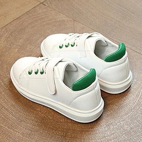 JIANGFU Weiße Schuhe der Kinder Beschuht Sportschuh-Freizeitschuhschuhe, Baby Kinder Fashion Sneaker Kinder Jungen Mädchen Casual Running Sportschuhe Green