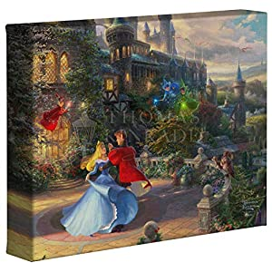 Thomas Kinkade Studios Sleeping Beauty Dancing in The Enchanted Light 8 x 10 Gallery Wrapped Canvas