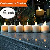 LED Tea Light Candles,Battery Operated Warm White Flameless Window Pillar Candle Bluk With